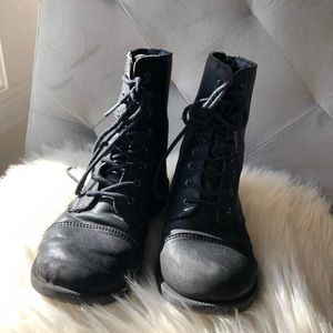 Cat and Jack black combat boots